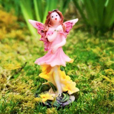 pink fairy bgarden ornament