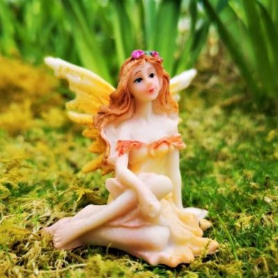 sunflower fairy ornament