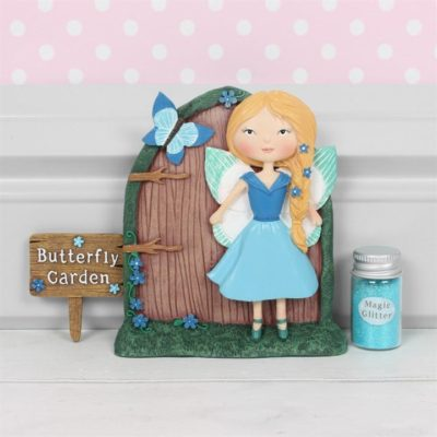 blue boxed fairy door gift set