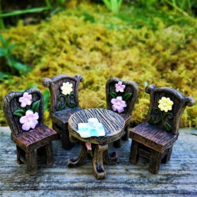 tea time fairy furniture set