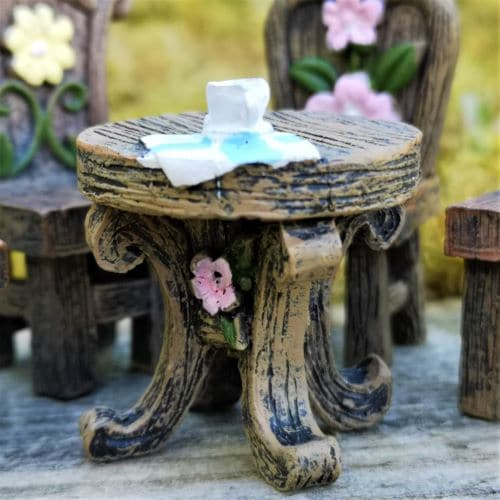table for miniature fairy garden
