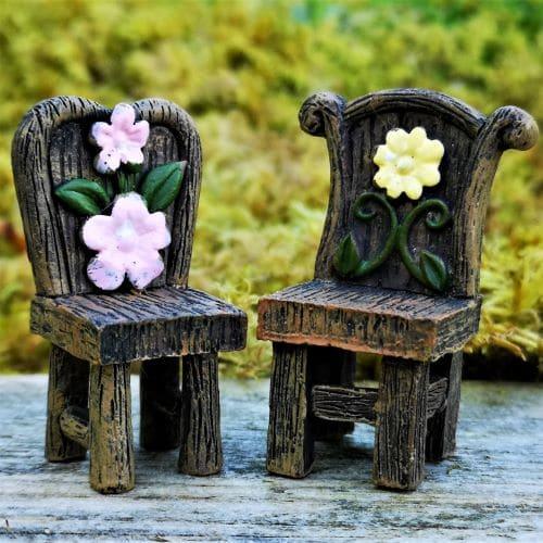 miniature fairy garden chairs