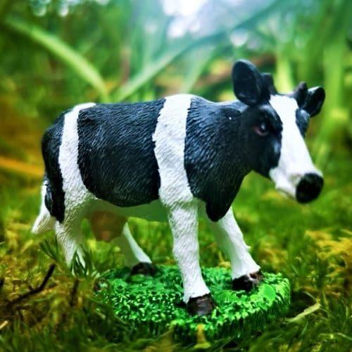miniature cow ornament
