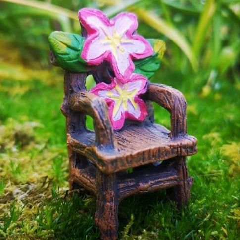 fairy garden throne accessory