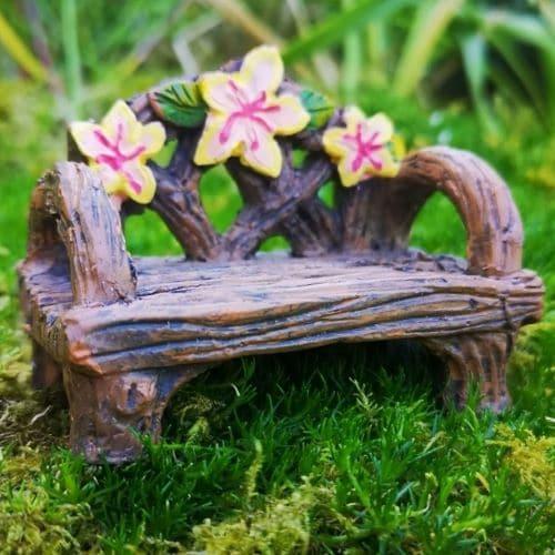 miniature fairy garden bench