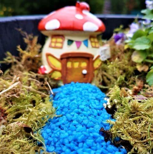 blue gravel miniature path