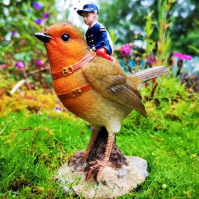 robin fairy ornament