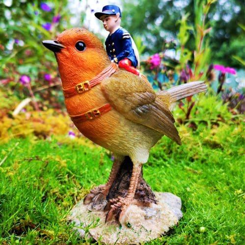 robin fairy ornament