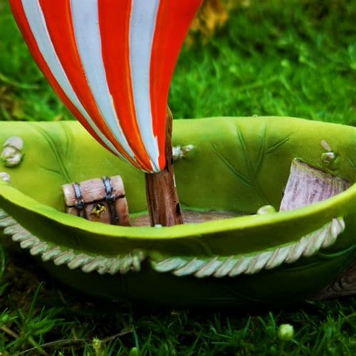 miniature boat and treasure chest
