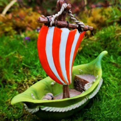 miniature fairy garden boat