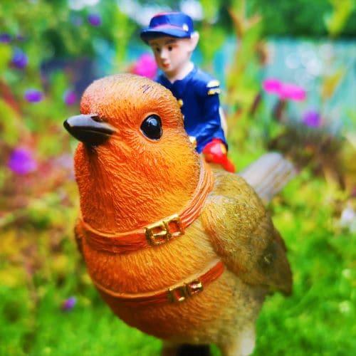 robin and fairy ornament