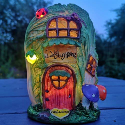 solar vegetable fairy houses