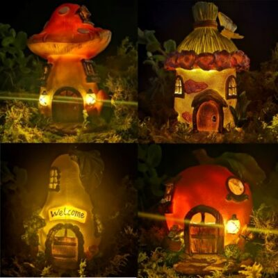 solar fairy house bundle