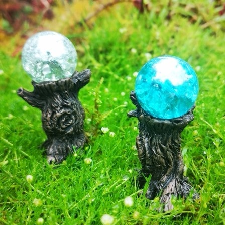 fairy garden crystal gazing ball
