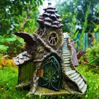 emerald green fairy houses