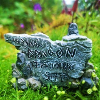 dragon sign fairy garden