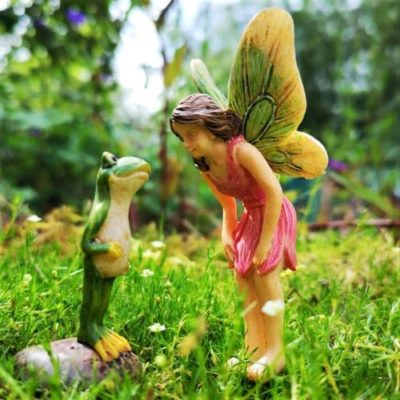 frog and fairy ornament