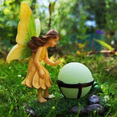 glowing fairy figurine