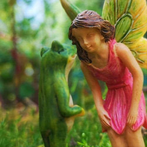 frog prince and fairy ornament