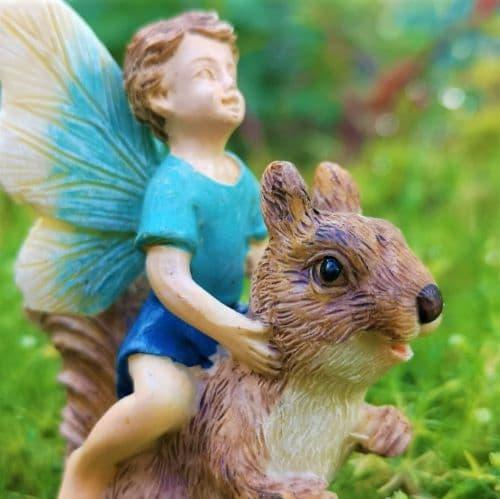 squirrel fairy garden ornament