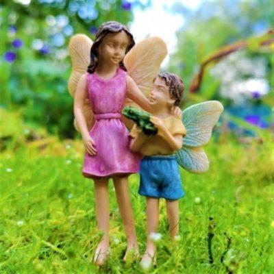 little boy fairy figurine