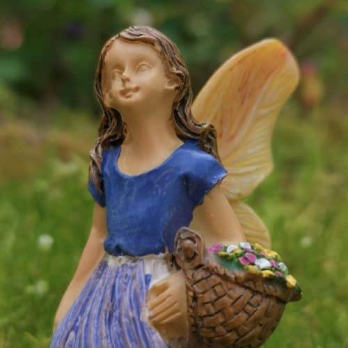 purple fairy garden ornament