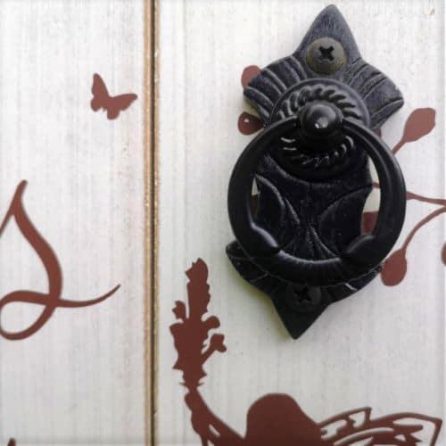 door handle of the large fairy door