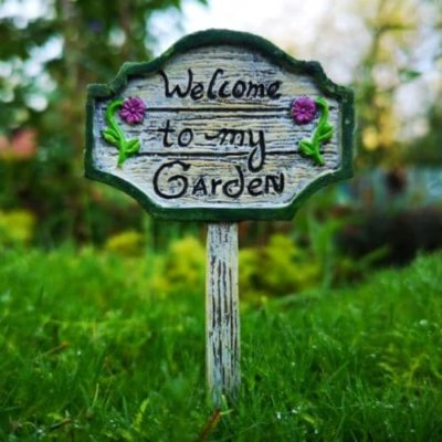 welcome to my garden fairy sign