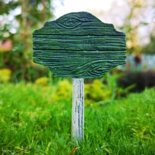 sign for a fairy garden