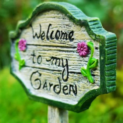 welcome to my fairy garden