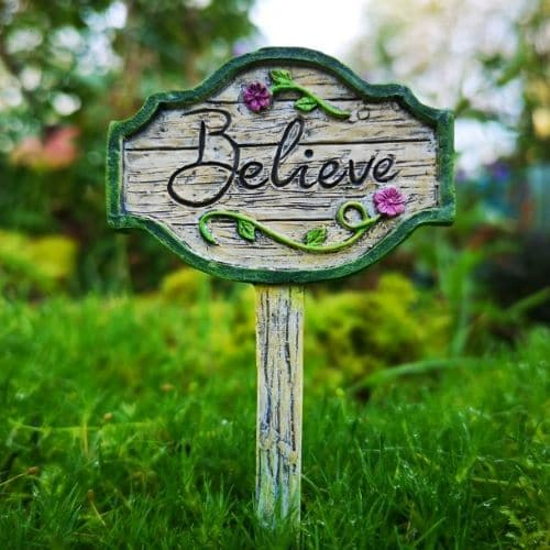 believe fairy garden sign