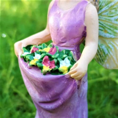 flower fairy with a purple dress
