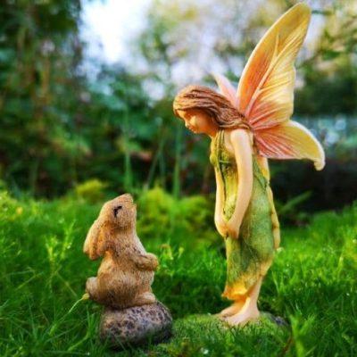 fairy and rabbit figure