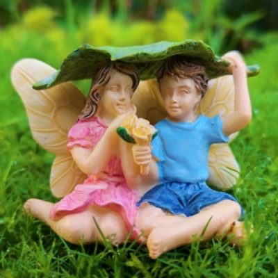 boy and girl fairy figurine