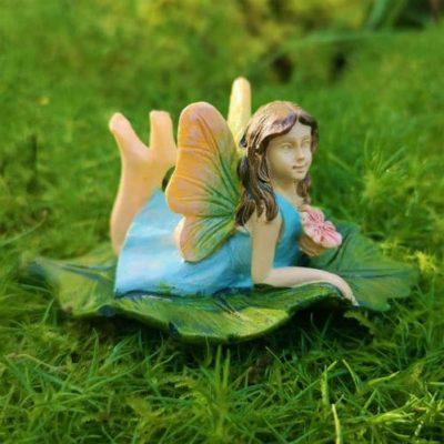 female fairy figurine on a leaf