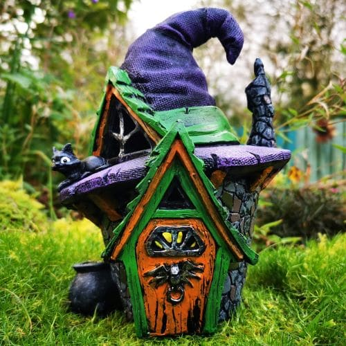 halloween witch hat house