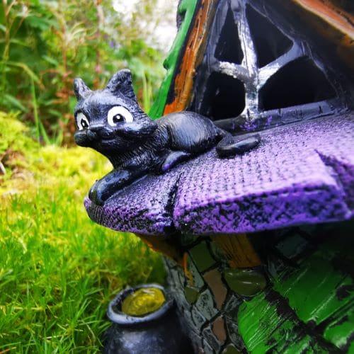 black cat halloween house