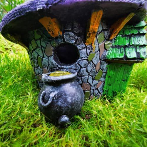 fairy house halloween cauldron
