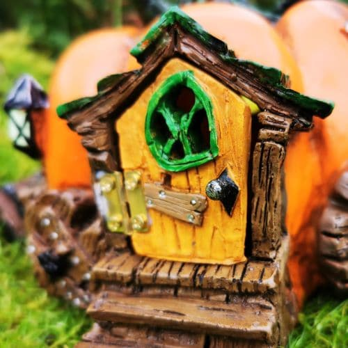 fairy door pumpkin house