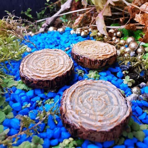 glowing fairy garden stepping stones