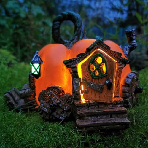 halloween light up fairy houses