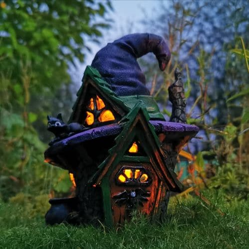 halloween witch fairy house