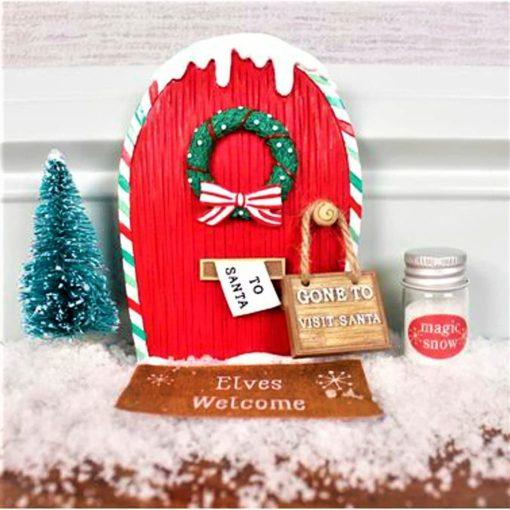 elf door for christmas