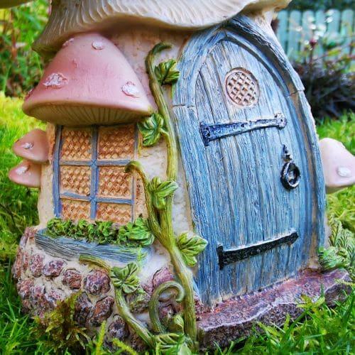 pink fairy house door
