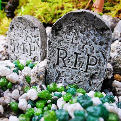miniature gravestones