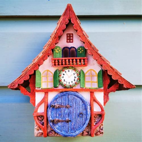 xmas clock fairy house