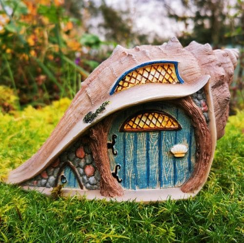 conch shell fairy house