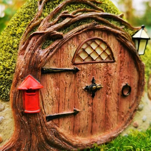 pink fairy house for trees