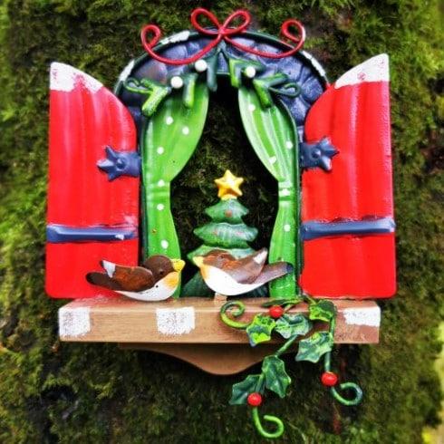 christmas fairy door window