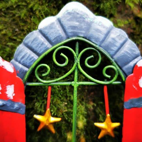 xmas fairy door window